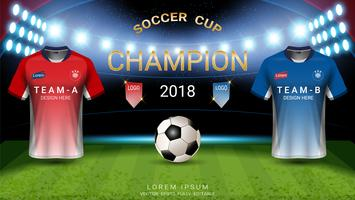 Wereldkampioenschap voetbalbeker templat, Final match-winning concept.
