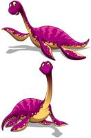 Brachiosaurus in paarse kleur