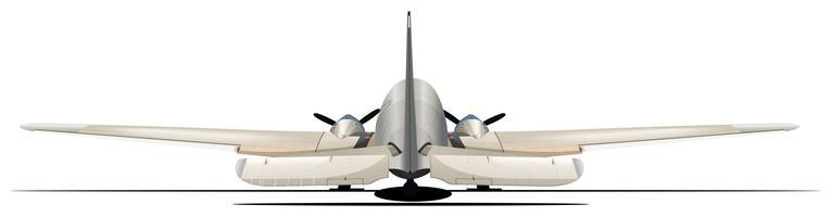 Vliegtuig vanuit de achteraanzicht vector