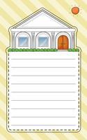 Een speciaal papier met een huis en een zon