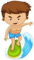 Man surfen op surfplank