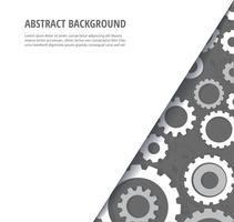 abstracte witte versnellingen Kogge wiel achtergrond
