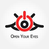 Open je ogen (symbool aan / uit) vector