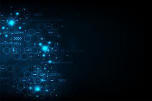 De wereld van digitaal computergebruik. vector