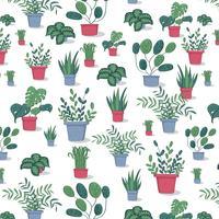 Potplantenpatroon vector