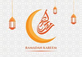 Ramadan Kareem Greeting Card Achtergrond vector