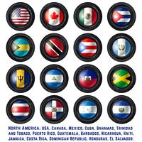Noord-Amerikaanse vlaggen vector