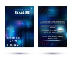 Nachtclub brochure sjabloon vector