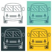 Set van mini-bus