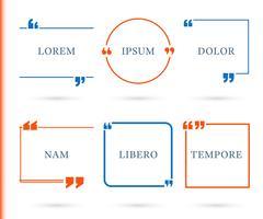 Citaten tekstballon, tekstvak vector