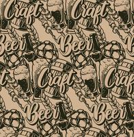 Naadloos patroon met bierelementen
