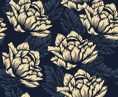 Naadloos bloemenpatroon vector