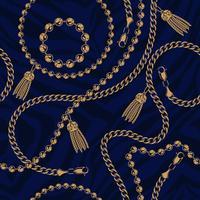 Naadloos patroon van kettingen