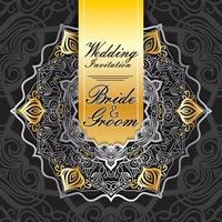 bruiloft uitnodigingskaart papier gesneden ontwerp vector