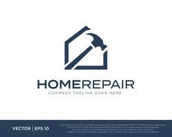 Huisreparatie Bouw Logo Icon Vector