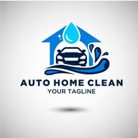 Auto Clean Car Logo-ontwerp vector