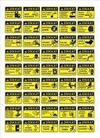 Turkse bewegwijzeringmodellen, gevaarsbord, verboden bord, veiligheids- en gezondheidsborden, waarschuwingsbord, brand noodsituatiebord. voor het afdrukken van stickers, posters en andere materialen. gemakkelijk aan te passen. vector.