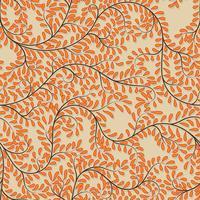 Naadloze oranje bloemenachtergrond op vectorillustratie. vector