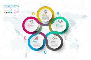 Zakelijke stap opties en abstracte infographics nummer opties sjabloon. vector