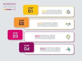 Horizontale balken met zakelijke pictogram infographics.