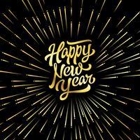 Gelukkig nieuwjaar. vector