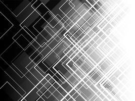 Monochrome diagonale vierkante lagen met abstracte achtergrond.