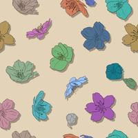 Sakura naadloze patroon hand schetsen.