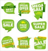 Verzameling van verkoop stickers en tags vector