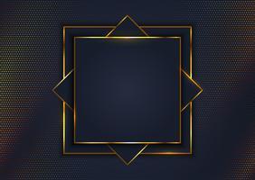 Elegante achtergrond met gouden frame vector