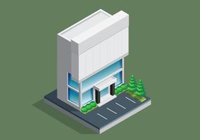 Kantoorgebouw isometrisch
