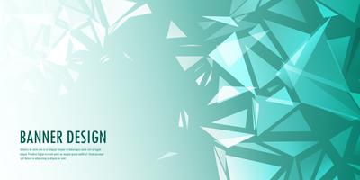 Abstract laag polybannerontwerp