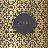 Decoratieve damast stijl patroon achtergrond vector