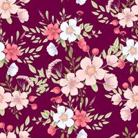 Wild bloemen naadloos patroon. Hand tekening vectorillustratie vector