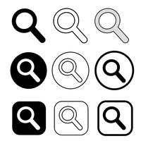 Vergrootglas teken zoekpictogram vector