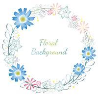 Aquarel bloem frame / achtergrond met tekst ruimte.