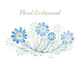 Aquarel bloem achtergrond met tekst ruimte. vector