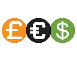 Geld vector pictogram illustratie vector