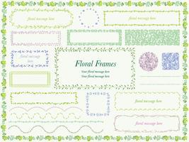 Set van geassorteerde bloemen en planten frames.