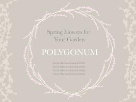 Lente bloem krans, vectorillustratie.
