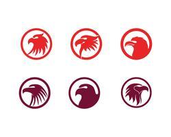 Eagle hoofd vogel logo en symbool vector