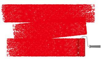 Verfroller abstracte achtergrond geïsoleerd op een witte achtergrond. vector