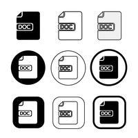 eenvoudig Documentbestand pictogram. Document doc teken