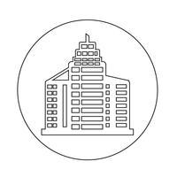 Kantoorgebouw pictogram