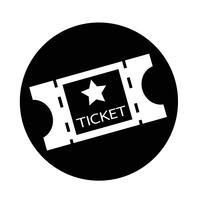 film ticket icoon vector
