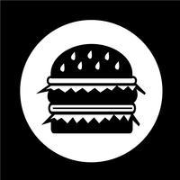 hamburger pictogram vector