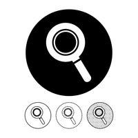 Zoek pictogram teken vector