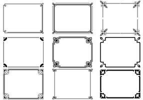 art deco frames vector pack