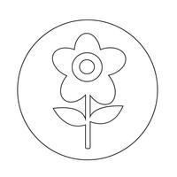 Bloem pictogram vector