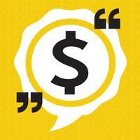 Dollar teken geld pictogram vector