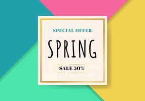 Sjabloon lente verkoop mooie kleurrijke achtergrond. Speciale aanbieding. U kunt gebruiken voor Wallpaper. flyers, uitnodiging, posters, brochure, geschenkbon korting, bannerweb.